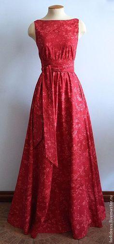 """Платья ручной работы. Ярмарка Мастеров - ручная работа Платье """"Red sparrow"""" в пол из хлопка. Handmade."""