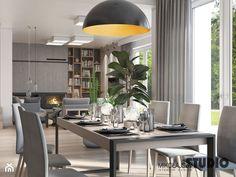 salon z jadalnią - zdjęcie od MIKOŁAJSKAstudio