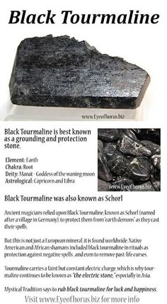 Anna's stone. Black tourmaline