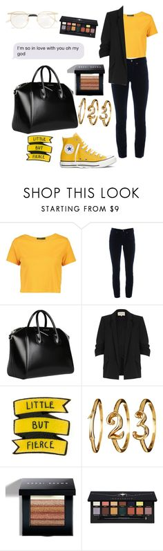 """""""In love with you"""" by mathildepl07 on Polyvore featuring Converse, Boohoo, Cambio, Givenchy, River Island, Bobbi Brown Cosmetics, Anastasia Beverly Hills and Gucci"""