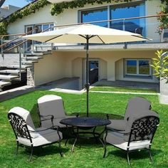 This gorgeous Crank & Tilt Parasol is a must have accessory for your garden. With an adjustable tilting head your seating area will stay cool all day long and for only 39.99!