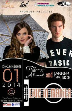 Tiffany Alvord And Tanner Patrick Live In Manila 1 December 2014