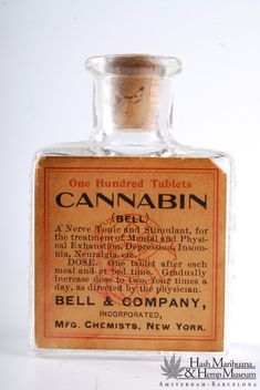 Cannabis was widely used as an ingredient in nineteenth century medicine, during the golden age of its therapeutic use. The museums house a unique collection of cannabis medicine bottles. Apothecary Bottles, Old Bottles, Antique Bottles, Vintage Bottles, Perfume Bottles, Vintage Advertisements, Vintage Ads, Old Medicine Bottles, Historia Universal