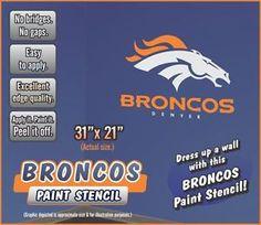 Denver Broncos Paint Stencil for Walls | eBay