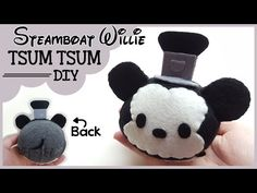 DIY Steamboat Willie Mickey Tsum Tsum (D23 Limited Edition) - YouTube