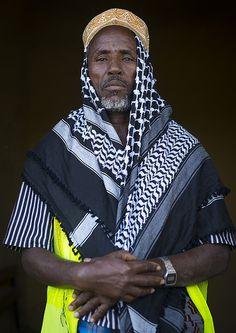 Afar Tribe Elder, Afambo, Afar Regional State, Ethiopia - Eric Lafforgue