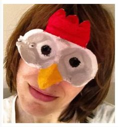 Chicken mask. Gloucestershire Resource Centre http://www.grcltd.org/scrapstore/