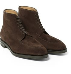 John Lobb Chambord II Suede Boots in Brown for Men | Lyst