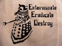 Dalek finished (mabith) Tags: art nerd tv crossstitch geek needlework embroidery character creative craft doctorwho british dalek dork subversive workthatneedle