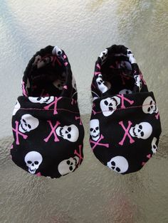 Skully baby shoes for baby girl