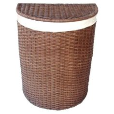 Target Home Rattan Hamper with Liner. Pretty for foot of bed. $50