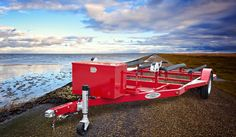 SHAD 2 Double Jet Ski Trailer, Fire Engine Red.