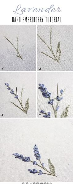 Lavender: embroidered miniature #handembroidery #embroidery #embroiderydesigns #tutorial