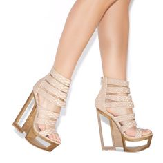 'Ceyda' Caged Platform Sandals from Beau+Ashe for ShoeDazzle [only $64]