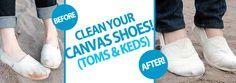 Clean Your Canvas Shoes! (Toms & Keds)
