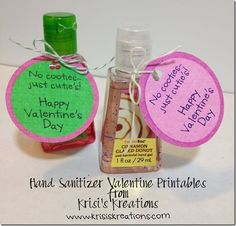 Hand Sanitizer as a Valentine's Gift.  I'm going to do this for my children's teachers.