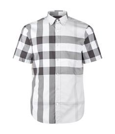 Burberry Brit Check Short Sleeve Shirt ( 255) ❤ liked on Polyvore featuring  men s fashion ee7841f2ff4