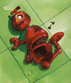 Nono by Boulet Isaac Asimov, Robot Illustration, Illustrations, Nono Le Petit Robot, Robots Drawing, Japanese Anime Series, Tumblr, Retro Futurism, Good Old