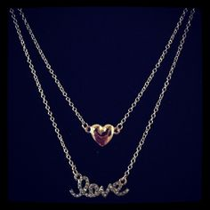 Love Layered Necklace  - $15.00    Sweet and pretty