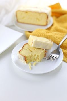 This low carb lemon pound cake recipe is perfect as a Mother's Day recipe or for any other spring occasion.