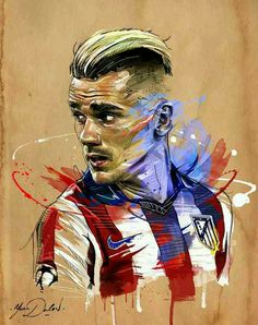 Antoine Griezmann of Atletico Madrid & France wallpaper.