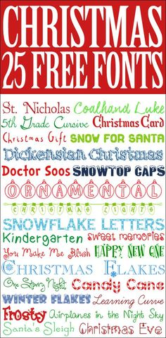 Perfect for Christmas cards, invitations, or printables… 25 FREE Christmas Fonts. Perfect for Christmas cards, invitations, or printables! Font Christmas, Christmas Crafts, Cricut Christmas Cards, Free Printable Christmas Cards, Christmas Doodles, Christmas Games, Fancy Fonts, Cool Fonts, Tittle Ideas