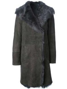 Joseph lambskin fur coat