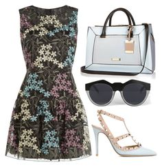 """Springtime"" by cherieaustin on Polyvore featuring Anna Sui, Valentino, River Island and Le Specs"