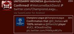 UEFA has 2 admins.  #MUFC fans: Tweet that DDG wil remain. RM Fans: Delete that tweet.