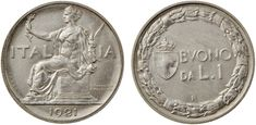 NumisBids: Nomisma Spa Auction 50, Lot 455 : Vittorio Emanuele III (1900-1946) Lira 1921 Prova – P.P. 267 NI RR...