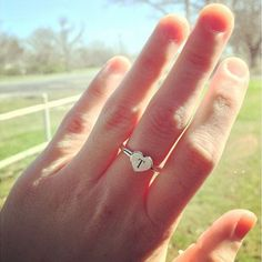the petite heart ring can be personalized with engraving by adding a symbol or letters to james avery