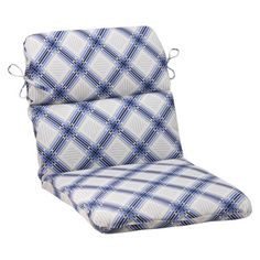 Outdoor Rounded Chair Cushion - Pretty Edge Geometric $52.99