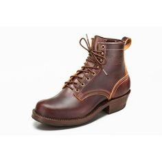 """Nicks Handmade Boots: The Robert 6"""" Boot.  All of our boots are sourced from USA materials and are handmade in Spokane, Washington."""