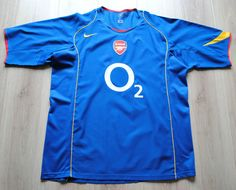 RARE VINTAGE ARSENAL FOOTBALL SHIRT AWAY 2004-2005 NIKE O2  XL  INVINCIBLES VGC