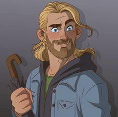 """""""Thor Odinson, god of thunder, you can put down the umbrella."""" #thor by CatMoore (catmoore.deviantart.com) #catmoore"""