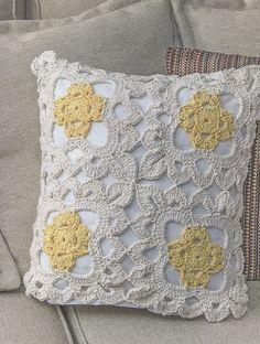 Receita Capa de Almofada Marguerite Crochê