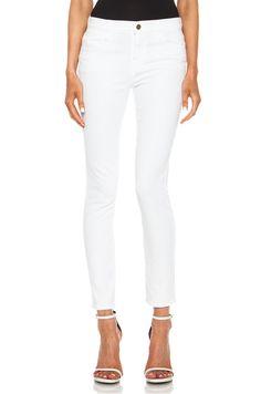 FRAME DENIM Le High Skinny Midrise Sexy Slim Jeans Pants Blanc White 29 $230 #FrameDenim #SlimSkinny
