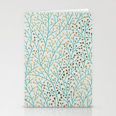 Berry Branches – Turquoise & Gold cards by Cat Coquillette