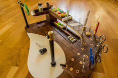 Pictures of new custom Fly Tying Station
