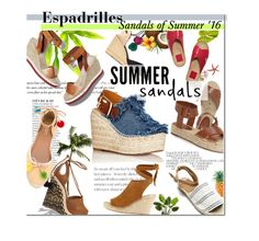 """""""Espadrilles: The Sandals of Summer 2016"""" by bamaannie ❤ liked on Polyvore featuring Anja, Chloé, Aquazzura, STELLA McCARTNEY, Loeffler Randall, Castañer and Marc Fisher LTD"""