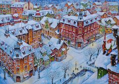 City Photo, Holidays, Painting, Vacations, Holidays Events, Painting Art, Holiday, Paintings, Draw