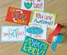 The cutest free set of Lunch Box Notes that you can print at home and have ready to slip into your kids lunch box or backpack! Kids Lunch For School, School Fun, School Lunches, School Ideas, School Craft, School Stuff, Easy Summer Desserts, 4th Of July Desserts, Dessert Kabobs