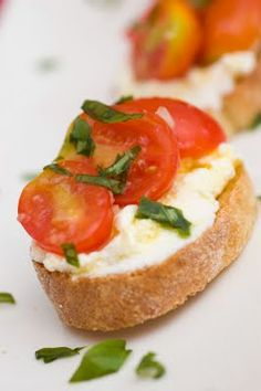 CHERRY TOMATO CROSTINI WITH RICOTTA