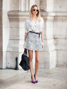 Camisa masculina más falda femenina