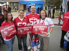 Fans showing their spirit for the #Niners