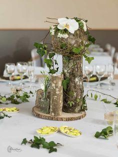 Cagettes et vases en bois : 35 centres de table pour un mariage rustique