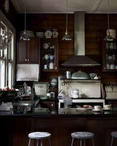 Kitchen with vintage accents