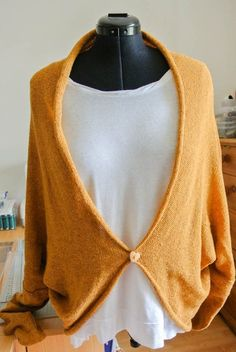 finished mustard slouchy cardigan  (2)