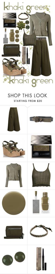 """Khaki Green"" by mandimwpink ❤ liked on Polyvore featuring Valentino, Marni, Pedro García, Burberry, TRANSIT, Pilot, Alexander Wang, NOVICA, Christian Dior and Spring"
