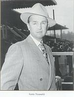 Trainer Noble Threewitt was a handsome 21-year-old when he took out his training license in 1932. He was a trainer for 75 years and became an icon at Southern California tracks, and was leading trainer at Hollywood Park in 1959, 1960, and 1961.  His horses included Correlation, Devoted Brass, Old Topper, King of Cricket, Sea Eagle, Debonaire Junior, Honeys Gem, Mountain Glory, Perizade.